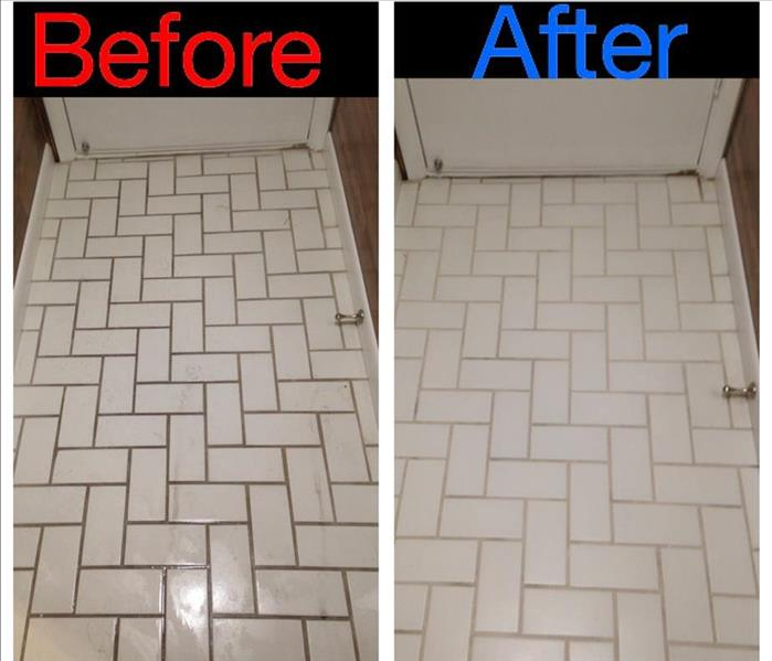 Tile & Grout Cleaning Before & After